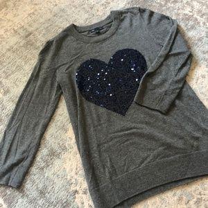 GAP heart 3/4 sleeve sweater